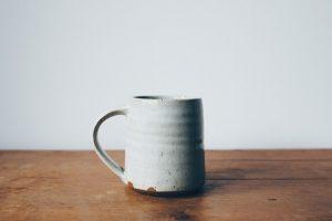 mug on wood table