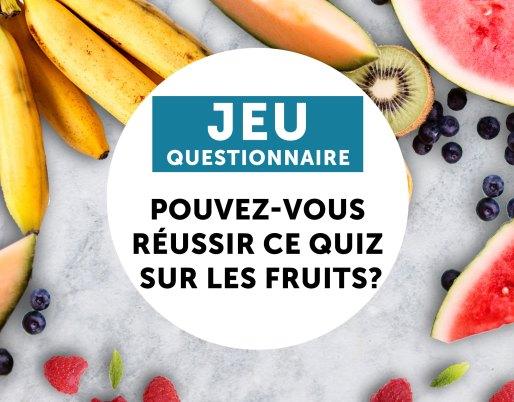 jeu questionnaire fruits