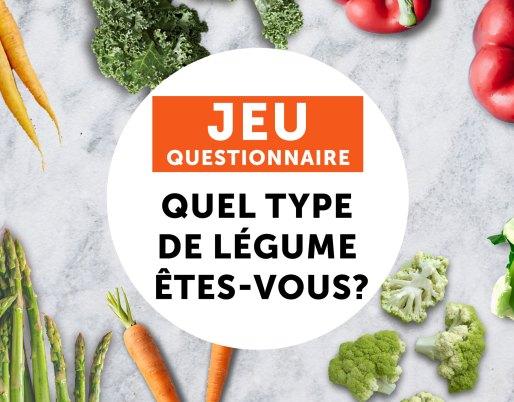 jeu questionnaire type de vegetable